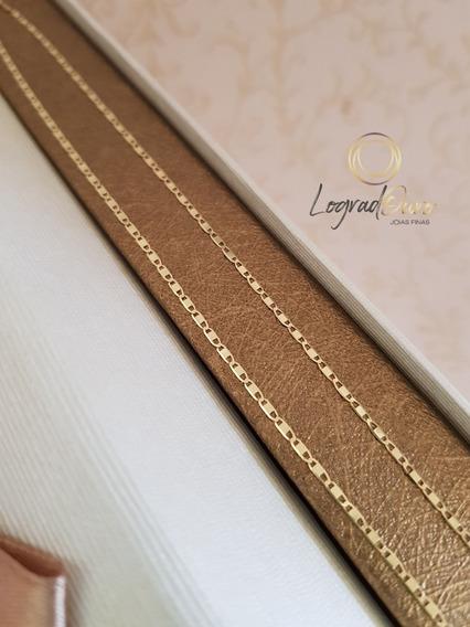 Promoção! Cordão Feminino De Ouro 18k Piastrine 1,7g