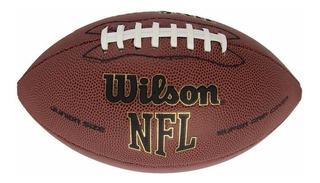 Balon Futbol Americano Marca Wilson En Cuero Oficial Nfl