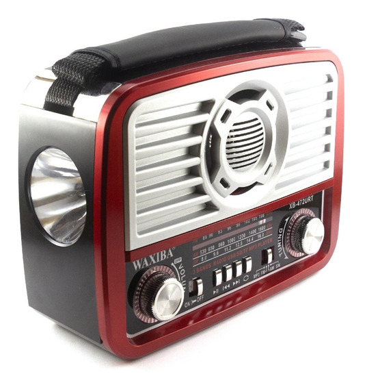 Radio Retrô Vintage Am Fm Usb Bateria Recarregável Lanterna