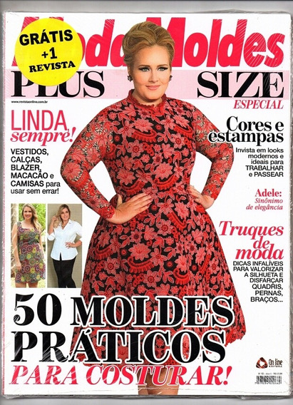 Revista Moda Moldes Plus Size + 1 Revista De Brinde