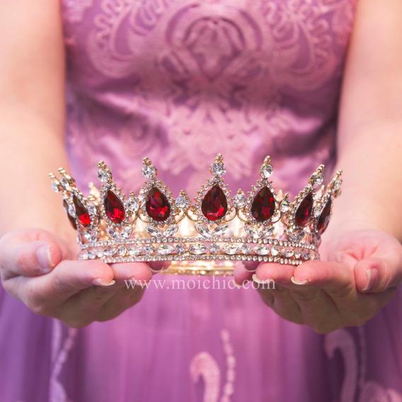 Corona Quinceaños Xv Rojo Moi Chic