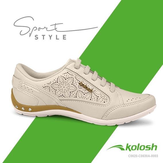 Tenis Casual Feminino Kolosh C0630a Original Calce Facil Ppm