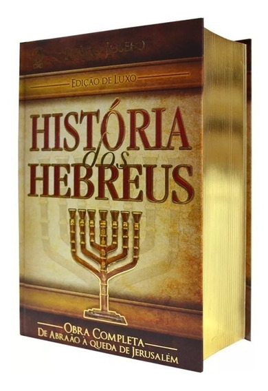 História Dos Hebreus Flávio Josefo Ed. Luxo Frete Gratis
