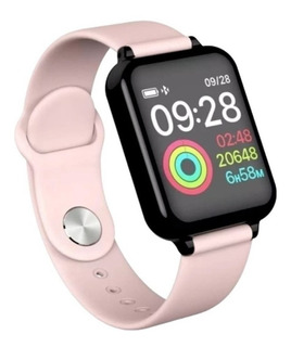 Relógio Rosa Feminino Smartwatch Android Ios Bluetooth Touch
