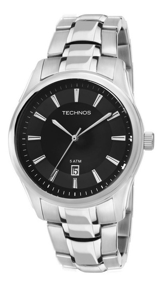 Relógios Masculinos Classico Prata Steel Technos 2115tv/1p