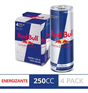 Red Bull Energy Drink 250ml Lata Pack X4