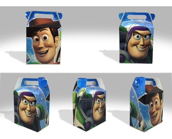 50 Cajas Para Dulces, Bolos, Toy Story Y Buzz Lightyear