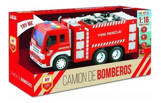 Juguete Camion De Bomberos Con Luz Y Sonidos Magnific Cuotas