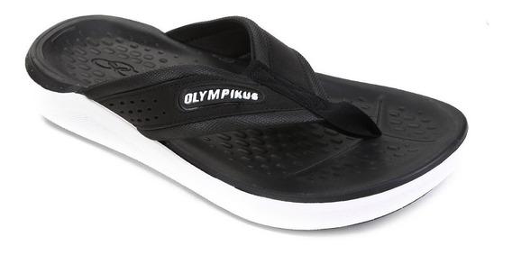Chinelo Olympikus 921 Preto E Branco +nf Lucaisane Tênis