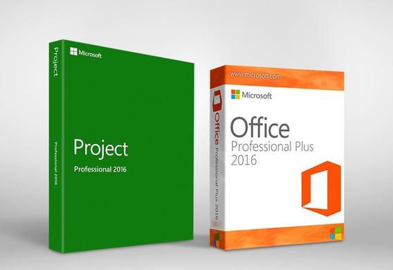 Pacote Project + Office 2016 Chave Ativação Vitalicio