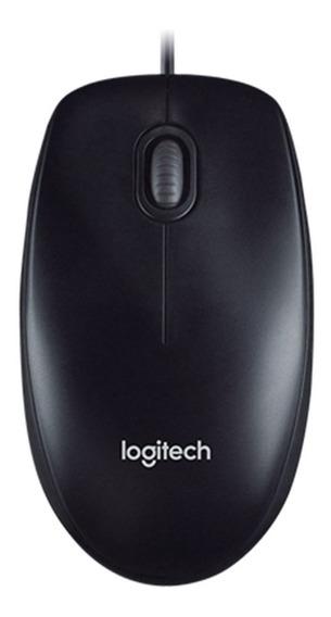 Logitech M100r Alto - Precisão Ótico Wired Mouse Branco