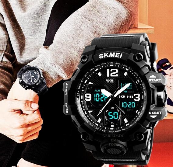 Relógio Masculino Skmei 1155b Original Prova D