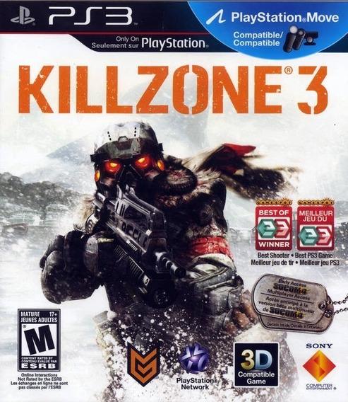 Jogo Killzone 3 Ps3 Portugues 3d Midia Fisica Lacro