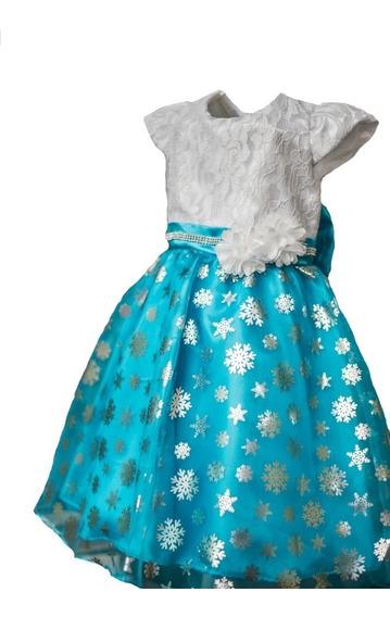 Vestido Infantil Frozen Luxo
