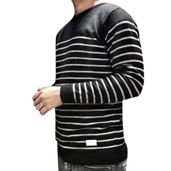 Sweater De Hombre Slim Fit Varios Colores 100% Algodon