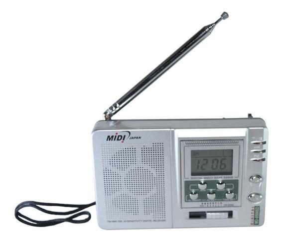 Radio Portatil Digital Am/fm Midi Md-9500sd 7 Bandas