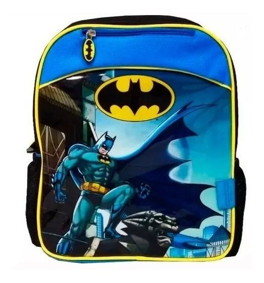 Mochila Batman 12 Pulg Con Capa Chica Jardin Jugueterialeon