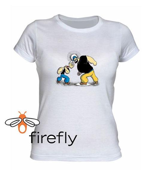 Remera Popeye El Marino Mujer Blanca Coleccion 3 Firefly
