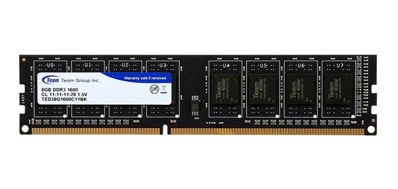 Memoria Dimm Team Group Elite Ddr3 8gb 1600 Mhz Pc Gamer