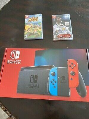 Nuevo Nintendo Switch 32gb Neon Red Con Paquete Joy-con.
