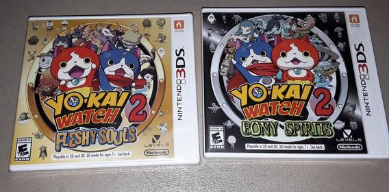 Yokai Watch 2 Fleshy Souls + Bony Spirits Nintendo 3ds Novo