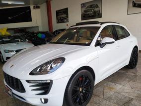 Porsche Macan 2.0 2015 Branca+roda 21+teto+banco Caramelo