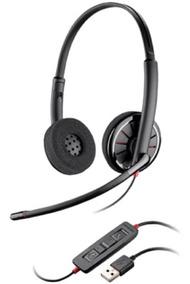 Headset Biauricular Usb Voip C320-m Plantronics