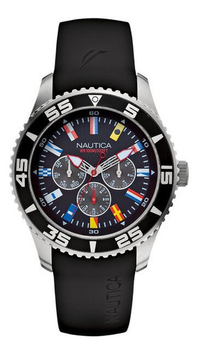 Relogio Nautica A12629g Flag Multifunction 100m Original