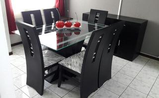 Juego De Muebles De Comedor Moderno 6 Puestos Más Aparador