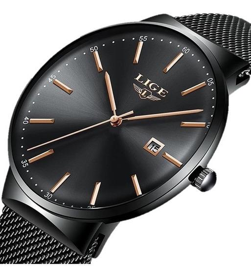 Relógio Masculino Lige 9903 Slim Casual Original Promoção