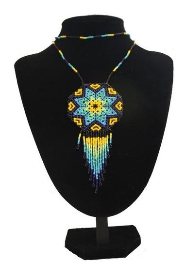 Collar De Chaquira Artesanía Huichol Mexicana Varios Colores