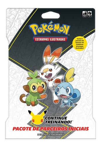 Imagem 1 de 3 de Card Game Pokémon Booster Blister Gigante Parceiros De Galar