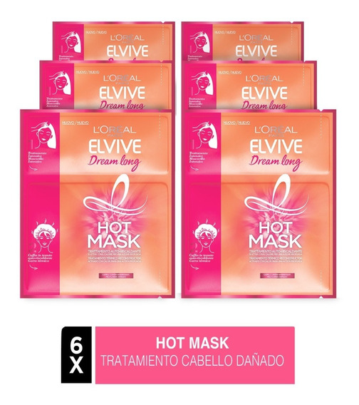 Pack 6x Hot Mask Elvive Dream Long L