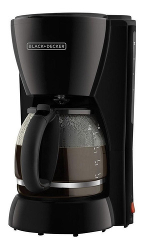 Imagen 1 de 2 de Cafetera Black+Decker DCM1100 semi automático negra de filtro 110V