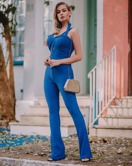 Macacão Azul Longo