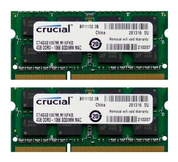 Memória Ddr3 1066mhz 8gb (2x4gb) iMac 24-inch Early 2009