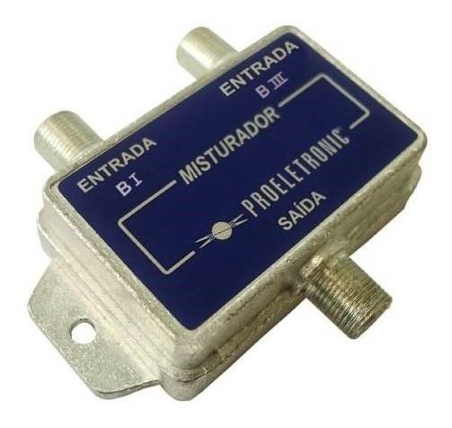 Misturador Banda 1 + Banda 3 Proeletronic P/ Antena Vhf 7796