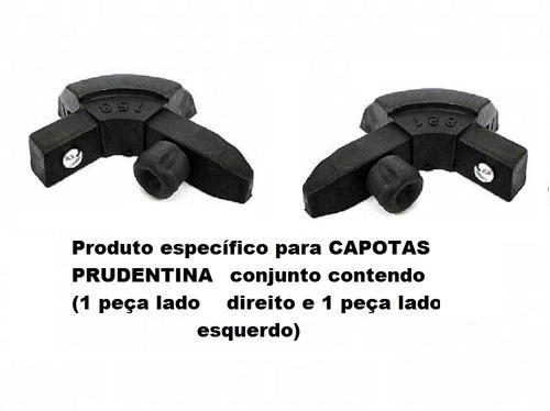 Imagem 1 de 2 de Cantoneira Nylon P/capota Prudentina Mod. Encaixe (2pç)pc158
