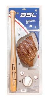 Bate 24´´ + Guante 9´´+ Pelota Beisbol Set Baseball Bsl