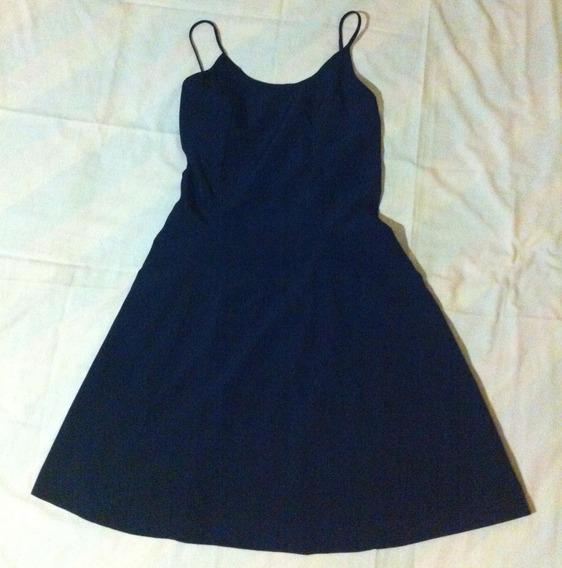 Vestido Corto Color Negro, Tela Piel De Durazno, Talla S