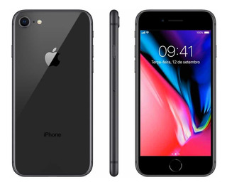 iPhone 8. 64gb. Preto. Super Conservado. Caixa+carregador.