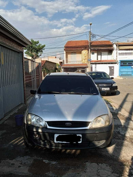 Fiesta 2001 Prata 1.0 Gl Gasolina / Aceito Troca Por Moto !