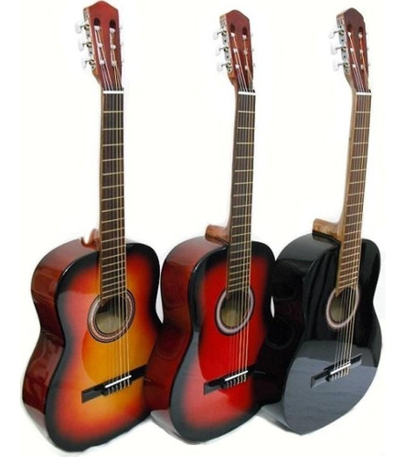 Guitarra Madera Clasica Criolla Zurdos Con Cuerdas Funda Pua