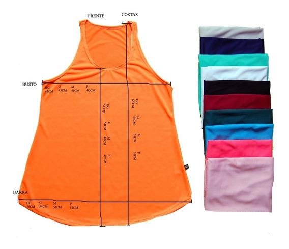 Lote 20 Blusas Regatas Feminina Furadinha Nadador Dry Fit