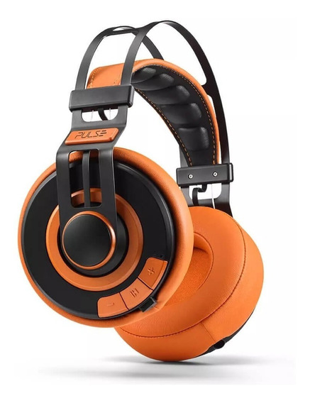 Headphone Fone De Ouvido Premium Wired Pulse Laranja Ph239