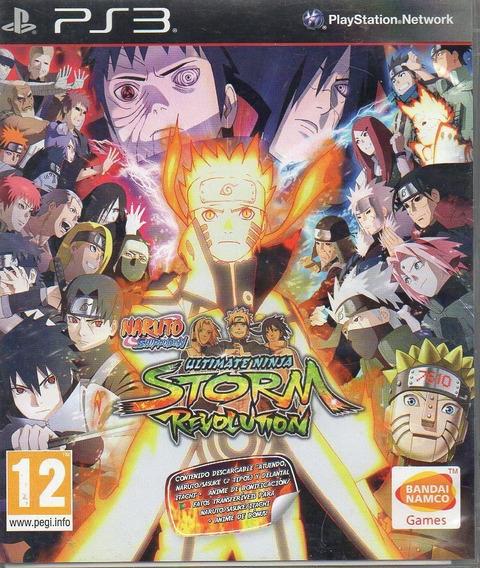 Jogo De Ps3 Naruto Storm Revolution Em Mídia Digital
