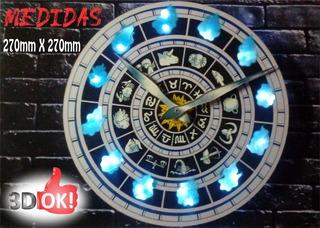 Reloj De Pared Con Led De Los Caballeros De Zodiaco