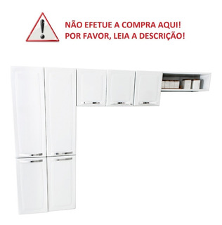Cozinha Compacta Itatiaia Rose - 7 Portas Aço Branco