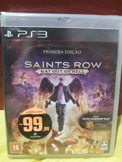 Saints Row - Gat Out Of Hell (jogo Mídia Física Lacrado) Ps3
