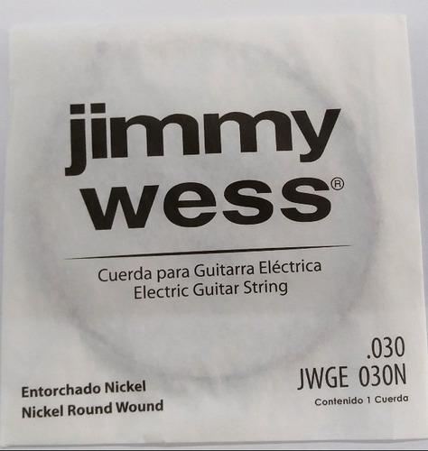 Imagen 1 de 1 de Cuerdas 5 A P/guitarra Elec. Jimmy Wess (paquete 10 Pzs)